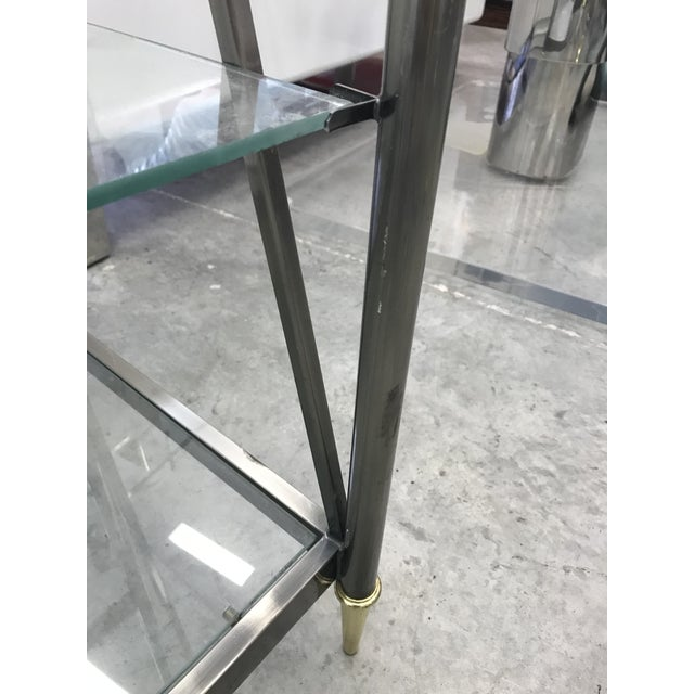 1970s Dia Etagere with Glass Shelves For Sale - Image 5 of 13
