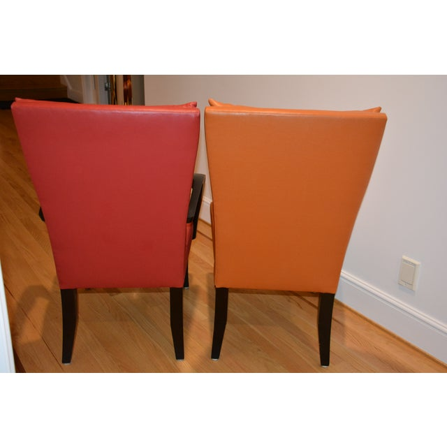 Mid-Century Modern Dakota Jackson Puff Chairs Dining Chairs - Set of 6 For Sale - Image 3 of 8