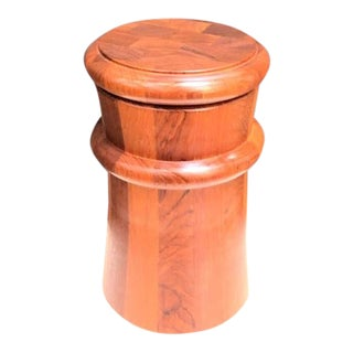 1960s Jens Quistgaard for Dansk Danish Teak Ice Bucket For Sale