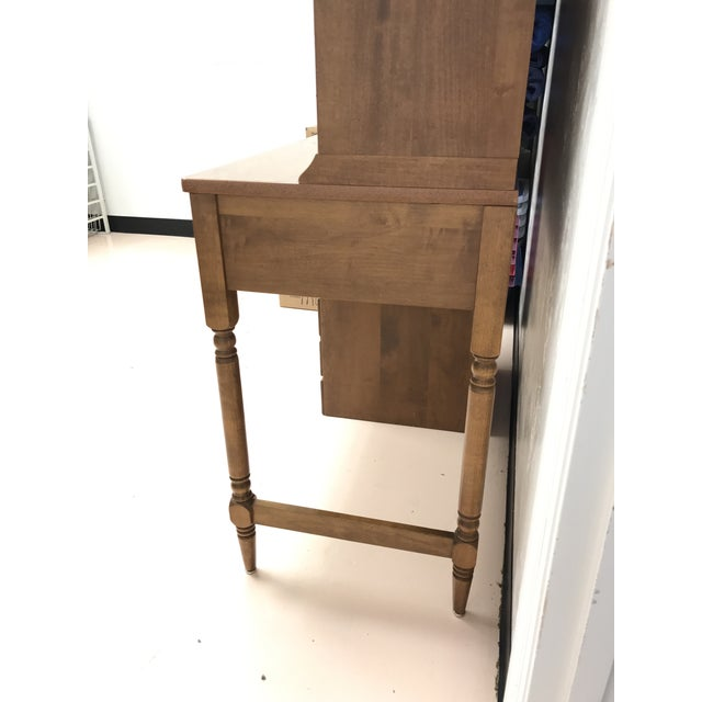 Ethan Allen Heirloom Nutmeg Desk & Chair For Sale - Image 11 of 11