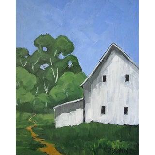 Petaluma California Farmhouse Fields Landscape Oil Painting Lynne French Art For Sale