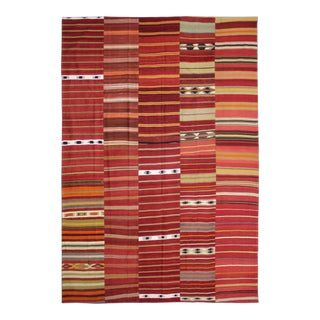 Hand Knotted Patchwork Kilim - 9′9″ × 13′2″