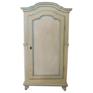 17th Century Italian Baroque Wood Lacquered Wardrobe or Armoire For Sale
