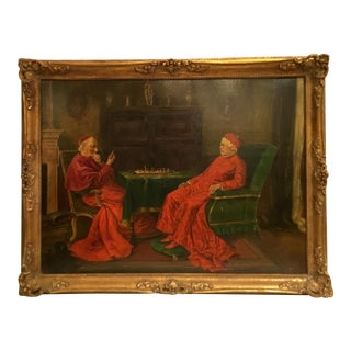 The Gentlemen of Rome ~ Oil on Board Painting Circa 1910 For Sale