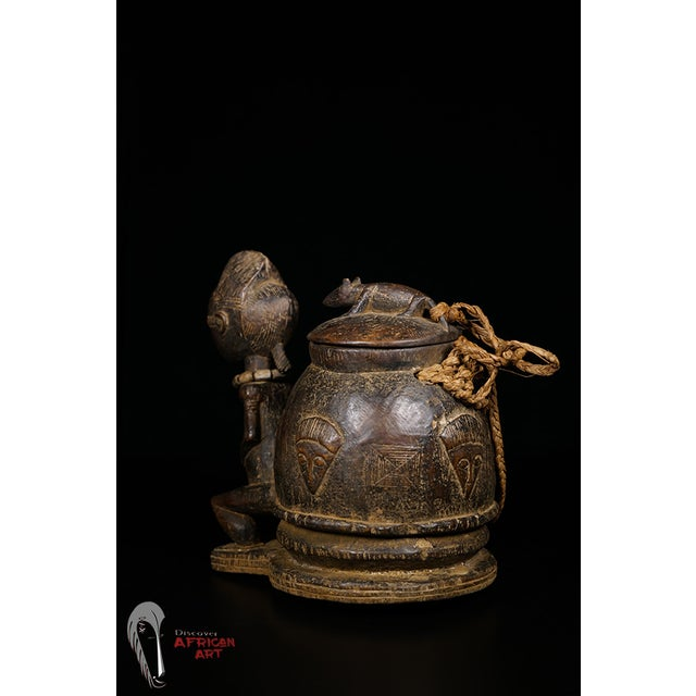 Baule African Tribal Divination Bowl - Image 7 of 11