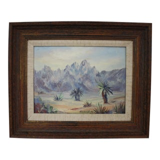 1940s Original Desert Landscape Painting by Listed Artist O'Bera Click (American, 1903-1994)