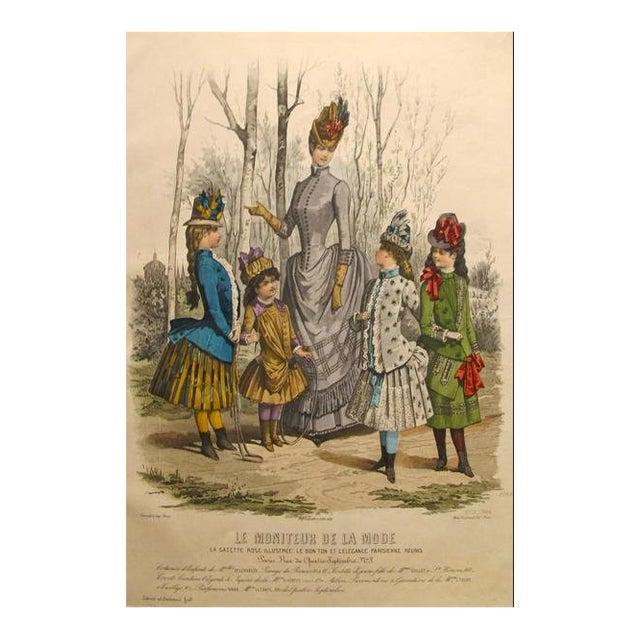 1886 Moniteur De La Mode, Parisian Ladies Fashion (Plate 13-1886) For Sale