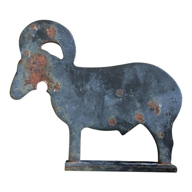 Vintage Cast Iron Ram Rustic Decor - Image 1 of 5