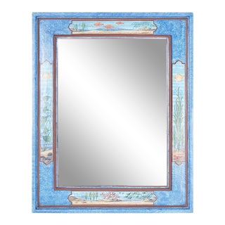 Aquatic Painted Mirror For Sale
