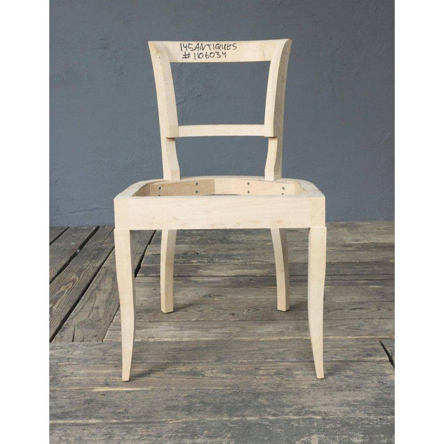 Art Deco Style Side Chair Frame - Image 2 of 11