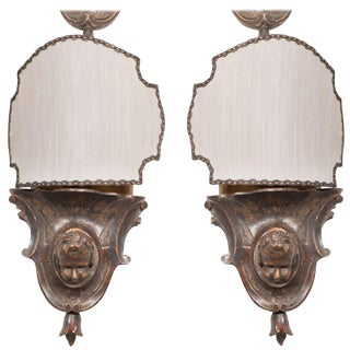 19th Century Cherubs Head Wall Sconces For Sale