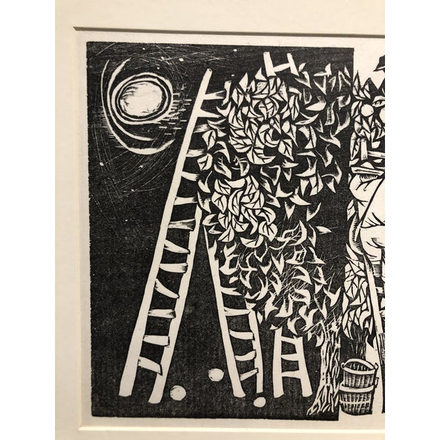"""1950s 1952 Woodcut """"Day and Night"""" Antonio Frasconi For Sale - Image 5 of 7"""