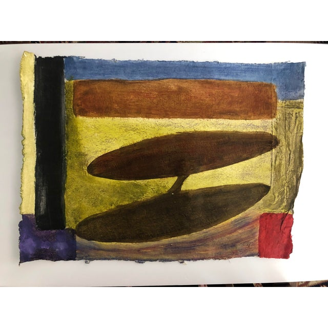 Oil Paint 1950s Vintage Richard M. Goodwin Mid-Century Modern Abstract Painting For Sale - Image 7 of 7