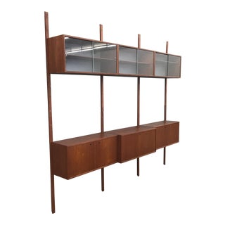 Norwegian 3 Bay Teak Wall Unit