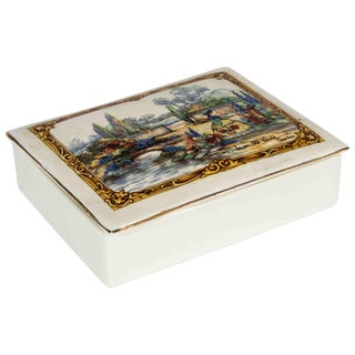 Vintage English Porcelain Box For Sale