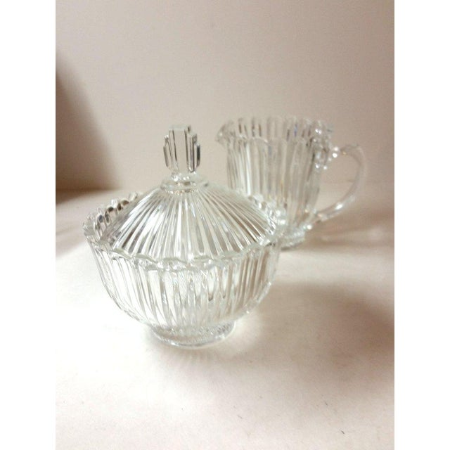 Cut Glass Creamer and Sugar - A Pair - Image 3 of 5