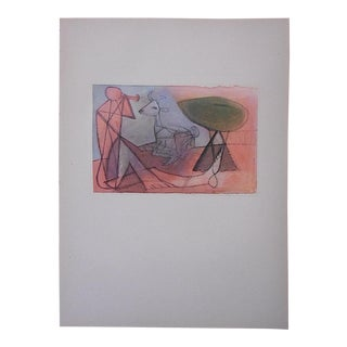Vintage Mid 20th C. Picasso Lithograph-From Verve Art Journal For Sale