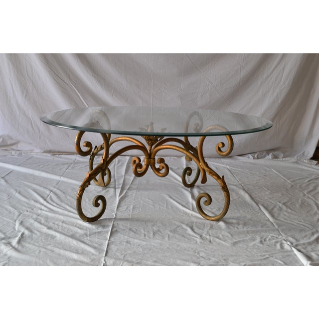 Vintage Italian Gilded Base Cocktail Table - Image 2 of 6