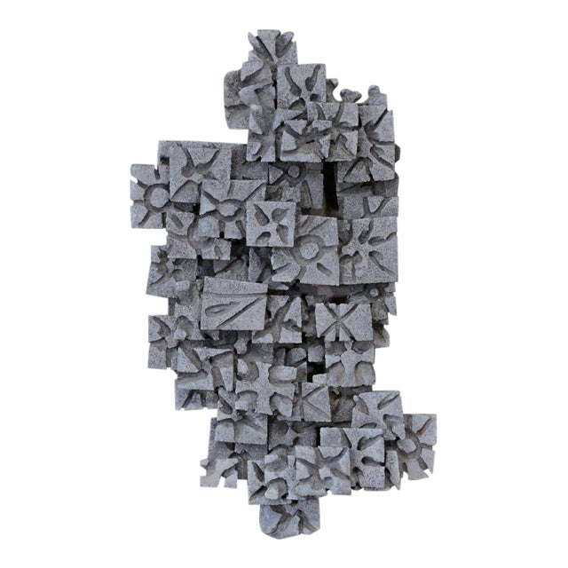 Aluminum Brutalist Wall Art Piece - Image 1 of 4