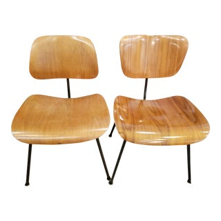 Herman Miller Eames Molded Plywood Dining Chairs - A Pair