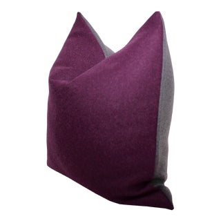 George Smith Napoli Square Wool Felt Pillow For Sale