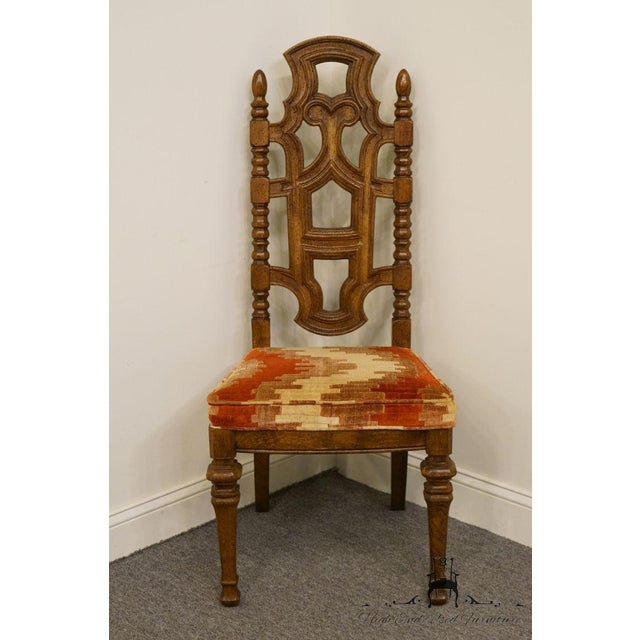 "STANLEY FURNITURE Jacobean Style Dining Side Chair 02140-0120 6 available, priced each. 45.5"" High 20.5"" Wide 23.5"" Deep..."