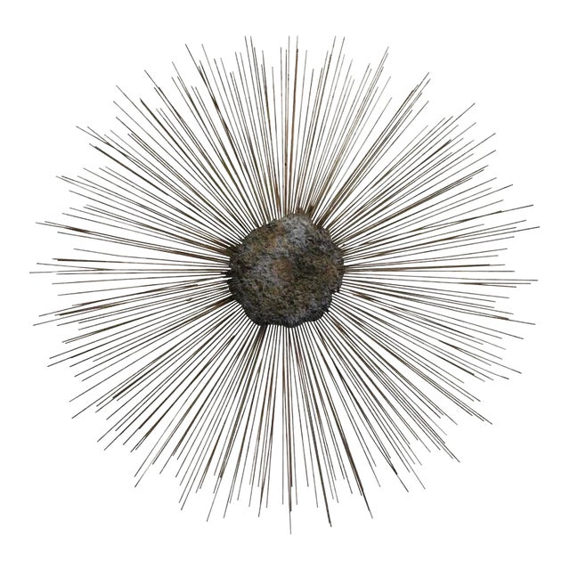 Curtis Jere Vintage Brass and Bronze Brutalist Starburst Wall Hanging - Image 10 of 10