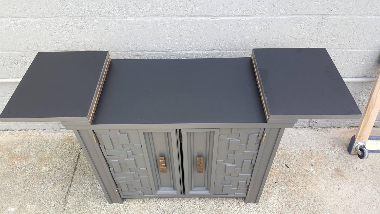 Brutalist Flip Top Bar Cabinet   Image 2 Of 9