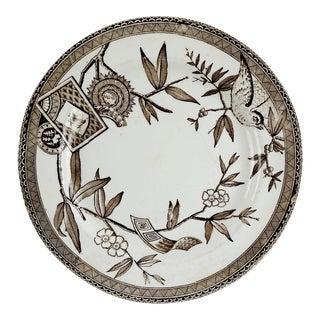 Wedgwood Aesthetic Brown Transferware Plate For Sale