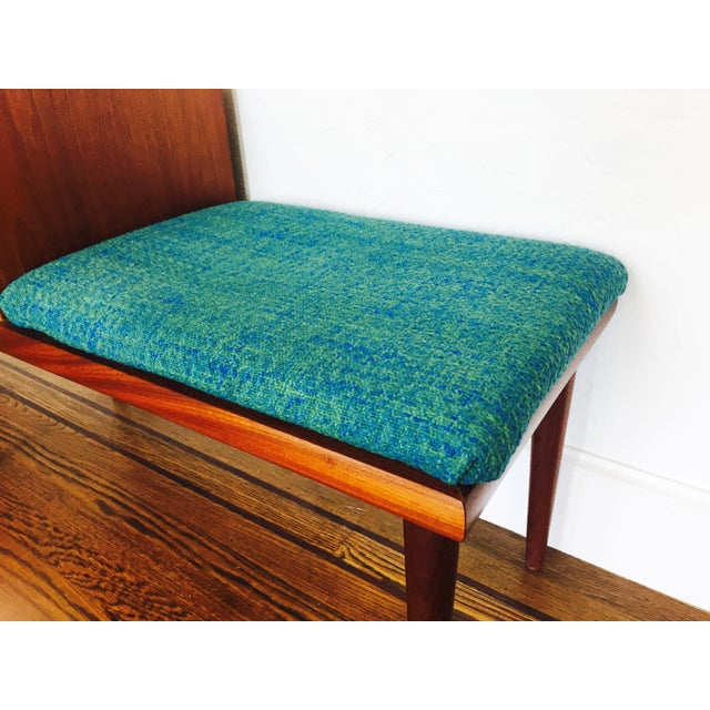 Mid Century Norwegian Teak Telephone Bench For Sale - Image 4 of 9