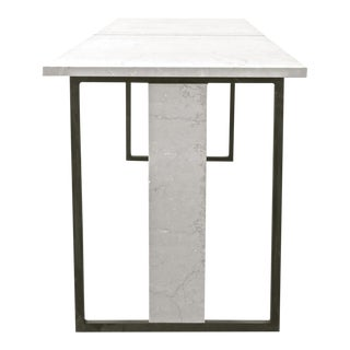 "Bespoke ""Hazel"" Marble / Steel Dining Table For Sale"