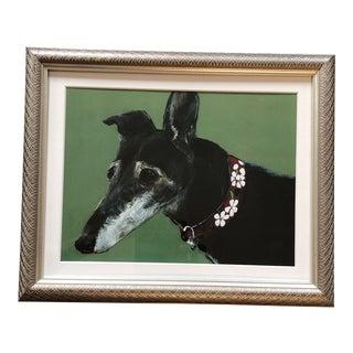 Greyhound Dog Print by Contemporary Artist Judy Henn For Sale