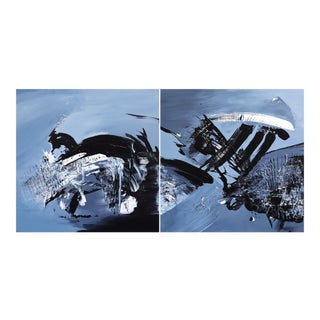 """Original Artwork by Gail Titus """"Taking the Plunge (Diptych)"""" For Sale"""