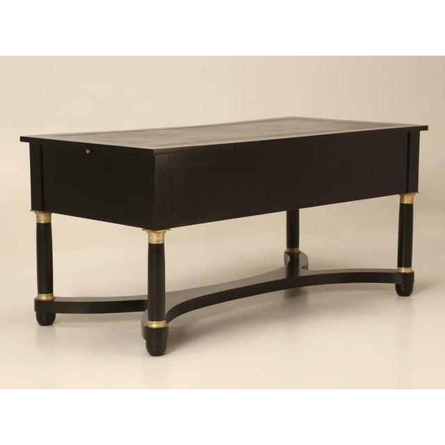Wood French Empire Style Ebonized Desk For Sale - Image 7 of 11