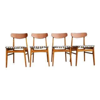 Alfred Sand Scandinavian Modern Dining Chairs - Set 4 For Sale