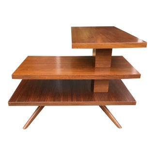 Mid-Century Three Tier Walnut Coffee or Side Table For Sale