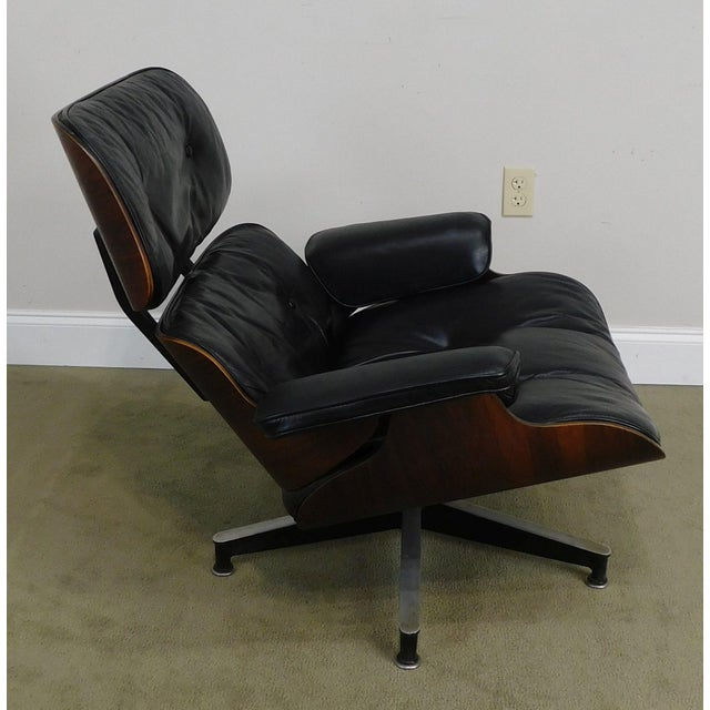 Herman Miller 1960 S Eames Black Leather And Rosewood