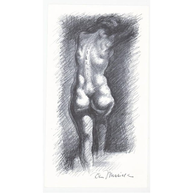 1930s Ben Messick Female Nude Lithograph W P a Style For Sale - Image 4 of 5