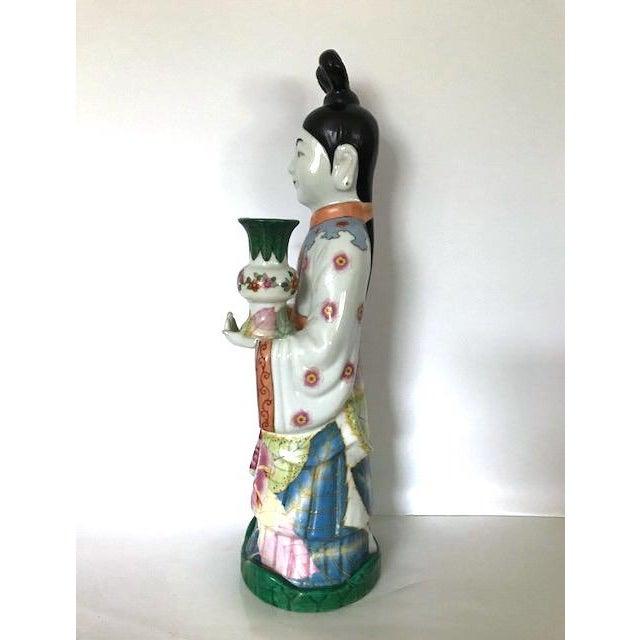 Gump's of San Francisco Vintage Oriental Candle Holder - Image 3 of 5