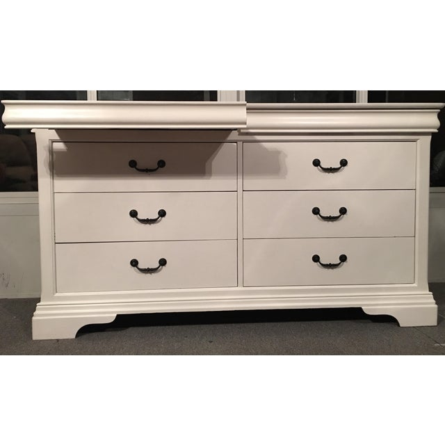 Louis Philippe lll White Dresser - Image 5 of 6