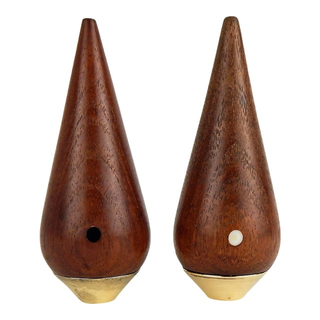 Danish Modern Salt & Pepper Set For Sale