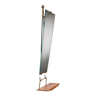Carl Aubock Wall Mirror With Shelf, Austria, Circa 1950 For Sale