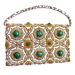 Hollywood Regency Embroidered Evening Bag