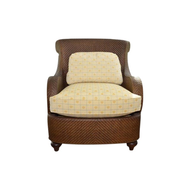 Hickory Chair Company Rattan Club Chair - Image 1 of 8