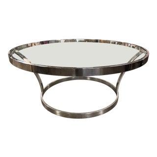 Milo Baughman Mid-Century Chrome Coffee Table