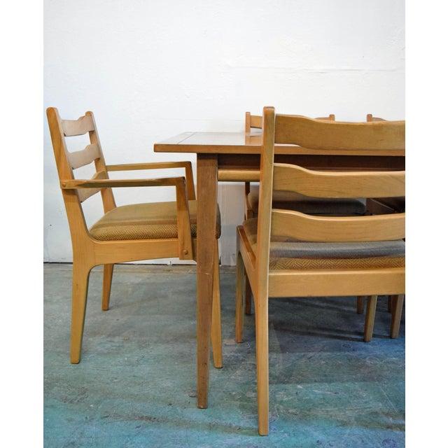 Mid Century Modern 1960s Wooden 6 Chair Dining Set 7