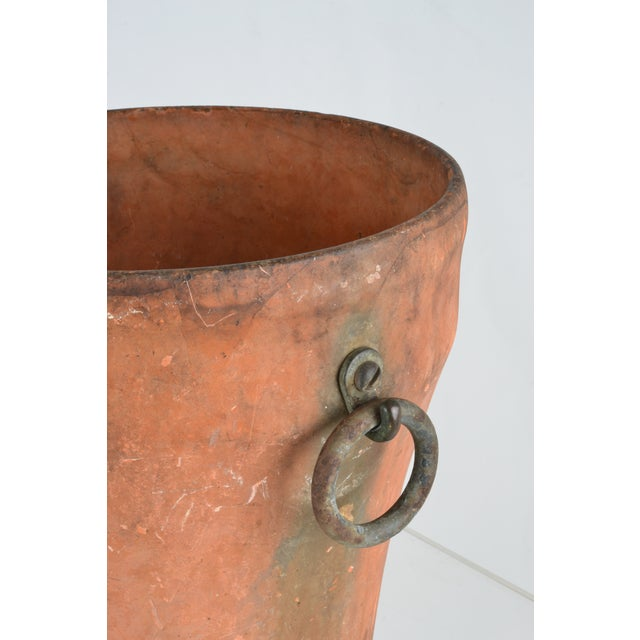 1920s Cast Iron Garden Planter With Terra Cotta Finish For Sale - Image 5 of 11
