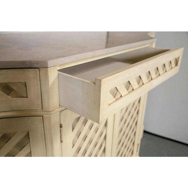 Marble-Top Checkerboard Sideboard For Sale - Image 7 of 9