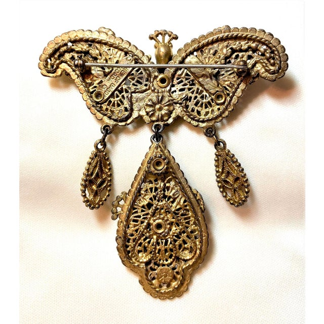 Metal 1940s Thief of Bagdad Jeweled Brooch For Sale - Image 7 of 9