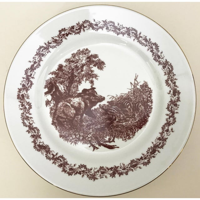 Black Forrest Theme Jlmenau Graf Von Henneberg Dinnerware - 22 Pieces For Sale In New York - Image 6 of 11